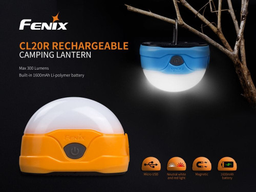 Fenix CL20R LED Rechargeable Camping Lantern, Blue-CL20RBL