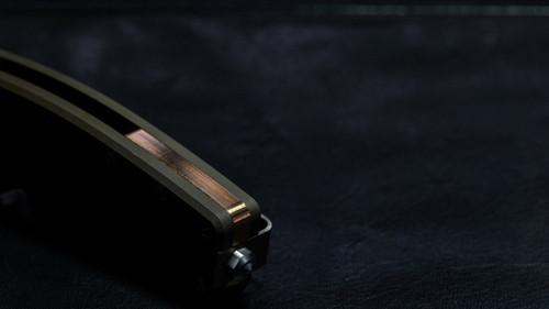 "DPx HEST/F Urban Titanium Bronze Framelock, 2.9"" CPM S35VN Plain Blade, DPXHSF033"