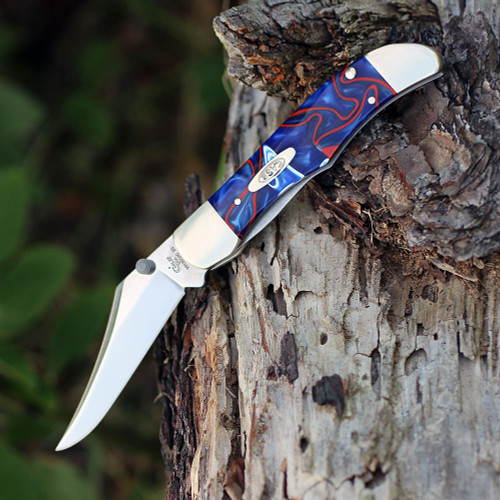 Case 11216 A/O Mid-Folding Hunter,Patriotic Kirinite Handle (101265AC SS)