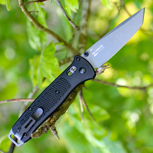"Benchmade Bailout 537GY, 3.38"" CPM-3V Tanto Blade, Black Grivory Handle"