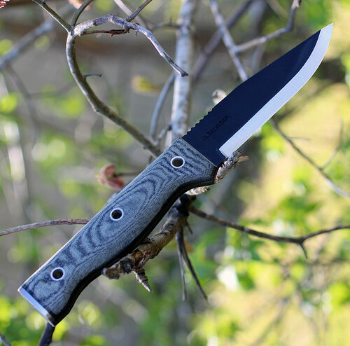 "Condor CTK246-4.5HC Final Frontier, 4 1/2"" 1075 Cabon Steel Black Blade, Micarta Handle"