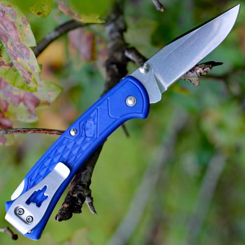 "Buck 112 Slim Ranger Select Lock Back, 2.88"" 420HC Plain Blade, Blue Handle"