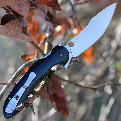 "Spyderco Tropen C237GP, 4.02"" CPM S30V Plain Blade, Polished G-10 Handle"
