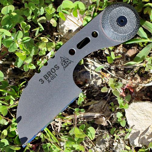 """TOPS BRAK-01-RMT Brakimo 5 1//4/"""" Carbon Steel Fixed Blade w//Green Handle"""