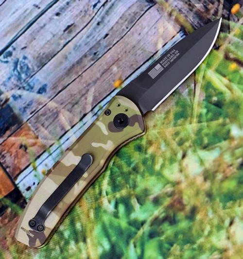 """Gerber Empower Auto 30-001621, 3.25"""" Black CPM-S30V Plain Blade, Multicam-Arid Aluminum Handle"""
