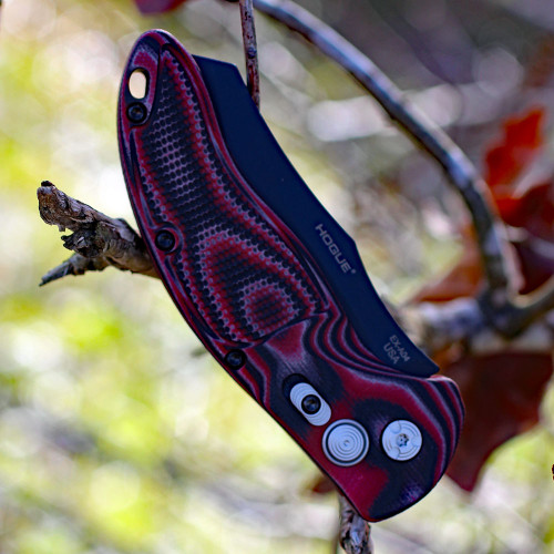 """HOGUE 34422 EX-A04, 3.5"""" WHARNCLIFFE CPM-154 BLADE, BLACK, RED G-10 HANDLE"""