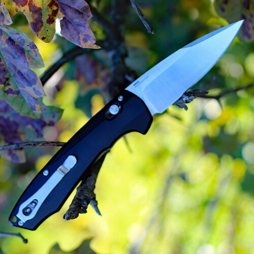 "Benchmade Arcane 490, 3.2"" CPM-S90V Plain Blade, Black Aluminum Handle"
