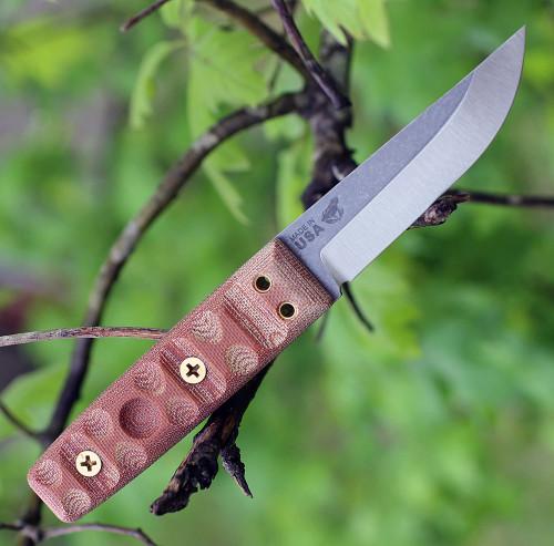 """TOPS Knives TanImboca Puukko TPUK-01RMT, 3.63"""" 1095 Steel, Rocky Mountain Tread Handle"""