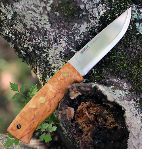 Helle Temagami CA, 4.33 in. Triple Laminated Carbon Steel