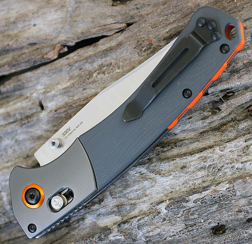 """Benchmade 15080-1 HUNT Crooked River, 4"""" CPM-S30V SS Plain Blade, G10 Handle"""