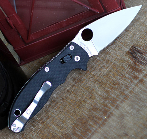 "Spyderco C101GP2 Manix 2 G-10, 3.37"" CPM S30V Plain Blade"