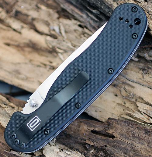 "Ontario RAT Model 1 Folder, 3.5"" D2 Blade Steel, Black Handle"