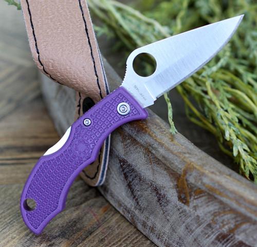 Spyderco Ladybug Lightweight, CLPRP3, Purple FRN, Plain Edge