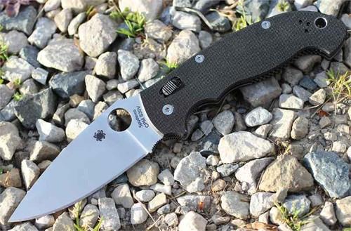 "Spyderco C95GP2 Manix 2 XL, 3.85"" CPM S30V Plain Blade, G-10 Handle"