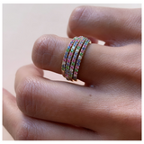 Rainbow Eternity Ring Yellow Gold