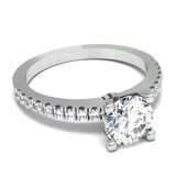 Diamond Solitaire with Diamonds Engagement Ring