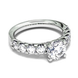 Diamond Classic with Diamond Band Engagement Ring