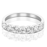 Belle Diamond Eternity Ring in White Gold