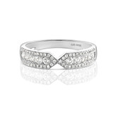 Firenze Duo Diamond Ring in White Gold