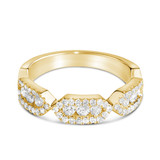 Firenze Trio Diamond Ring in Yellow Gold