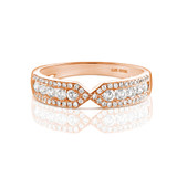 Firenze Duo Diamond Ring in Rose Gold