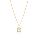 Grande Diamond Monogram Yellow Gold Necklace