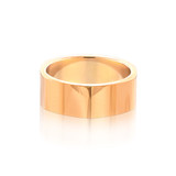 Angled Yellow Gold Band Ring
