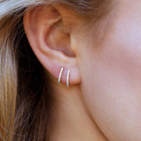 Mia Diamond Yellow Gold Hoops