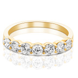 Belle Diamond Eternity Ring in Yellow Gold