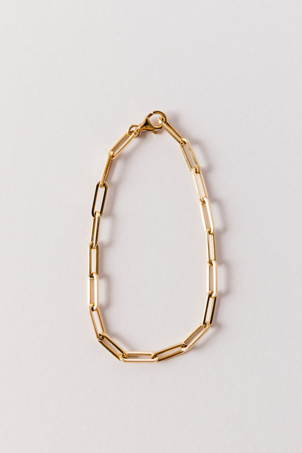 Jackie Paperclip 18 Yellow Gold Bracelet