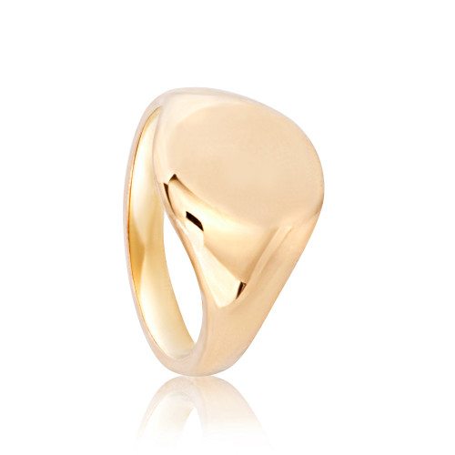 Chelsea Yellow Gold Signet Ring