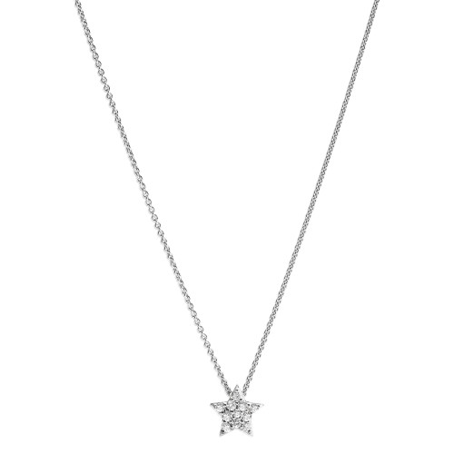 Diamond Star Necklace in White Gold
