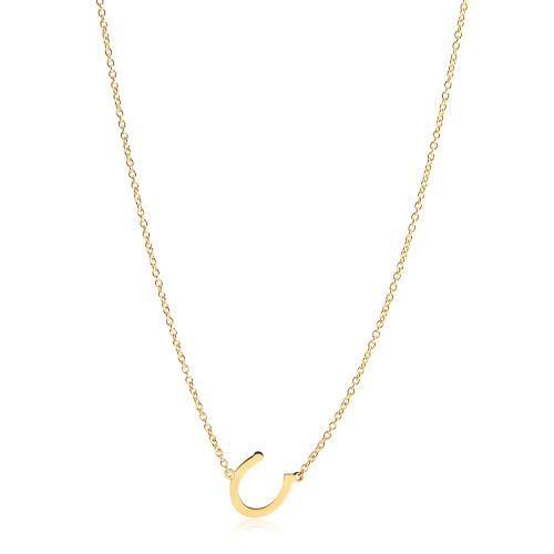 Horseshoe Necklace in Yellow Gold