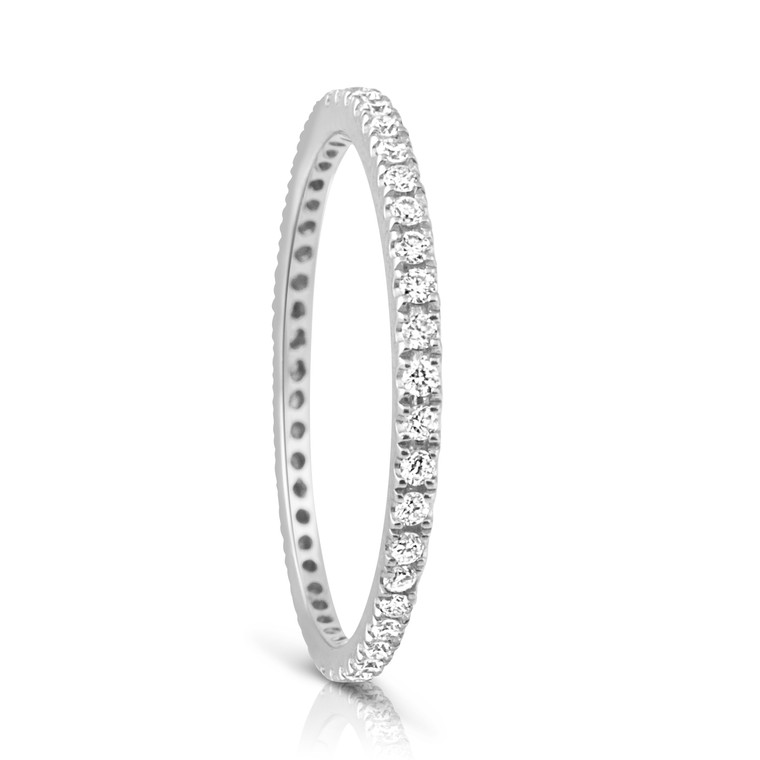 Infini Diamond Eternity Ring Full Band in White Gold