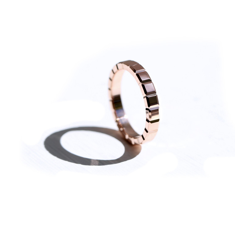 Beam Rose Gold Ring Band