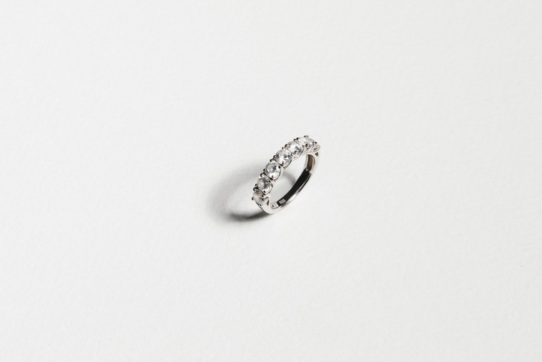 Lucia Diamond Eternity Ring in White Gold