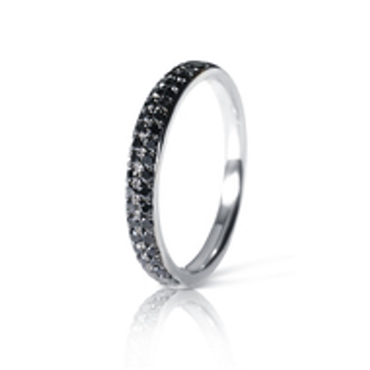 Nella Black Diamond White Gold Eternity Ring