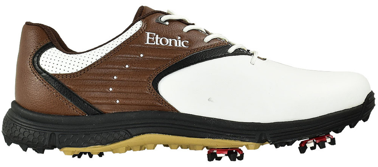 Etonic Stabilite Golf Shoes- White Brown