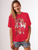 CAT LADY T-SHIRT RED