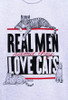 REAL MEN CAT T-SHIRT ASH