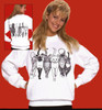 CATS COMING AND GOING SWEATSHIRT WHITE
