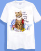 ALLERGIC CAT T-SHIRT WHITE