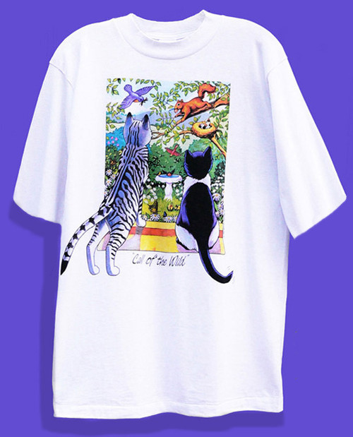 CALL OF THE WILD CAT T-SHIRT WHITE