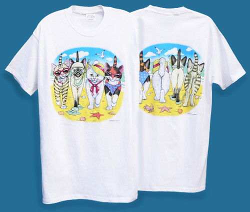 BEACH KITTENS T-SHIRT WHITE