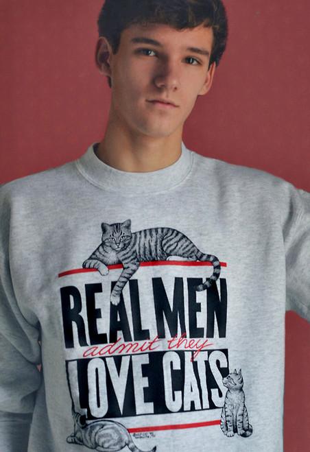 REAL MEN CAT SWEATSHIRT ASH