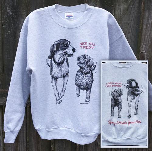 FIXED DOGS SWEATSHIRT ASH