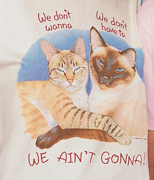 WE AINT GONNA CAT T-SHIRT NATURAL