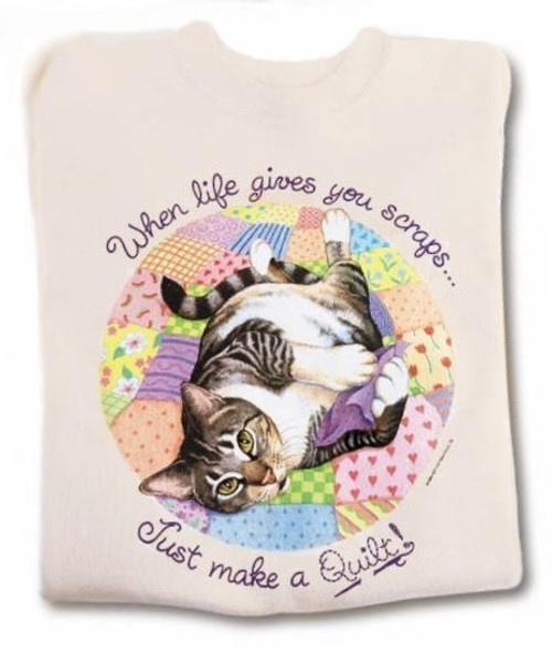 QUILT CAT SWEATSHIRT NATURAL