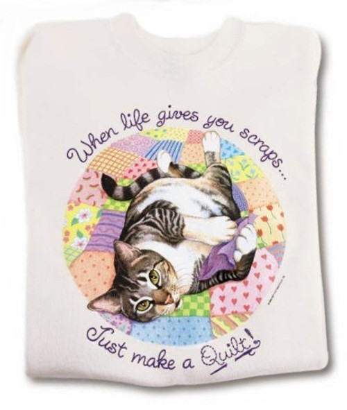 QUILT CAT T-SHIRT NATURAL