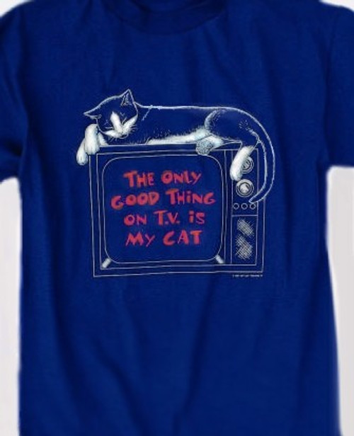 CAT TV SWEATSHIRT NAVY